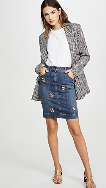 Moschino Denim Money Skirt