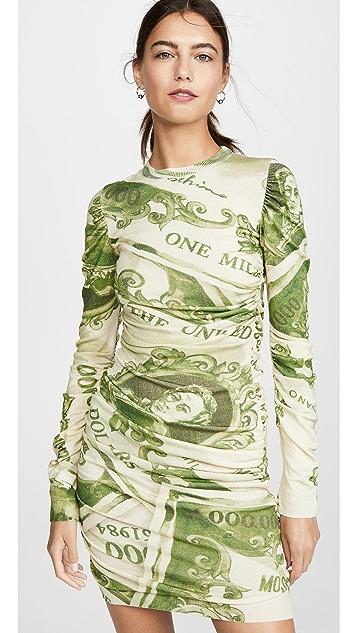 Moschino 长袖美元迷你连衣裙