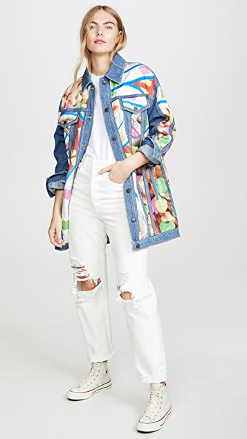 Moschino Long Denim Jacket