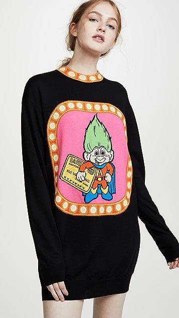 Moschino Troll Sweater Dress