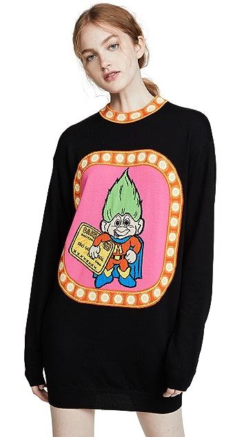 Moschino Troll 毛衣连衣裙