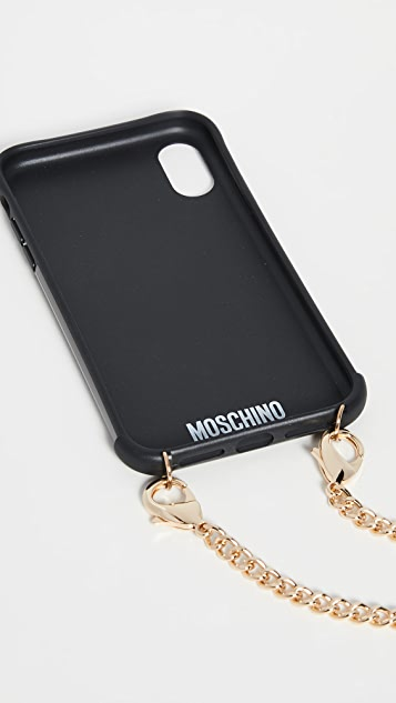 Moschino Fantasy Print iPhone XR Case with Chain
