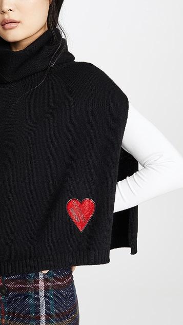 Moschino Heart Logo Poncho