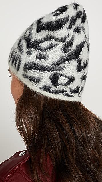 Moschino Шляпа с логотипом и леопардовым принтом