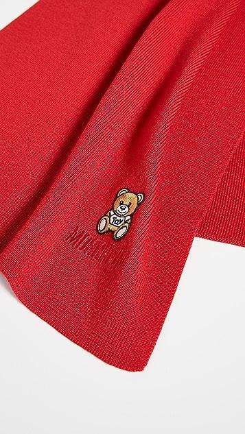 Moschino Bear Patch Scarf