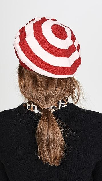 Moschino 条纹贝雷帽