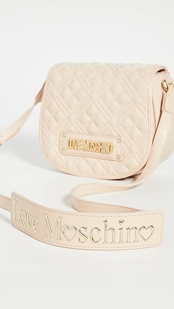 Moschino Стеганая сумка Saddle