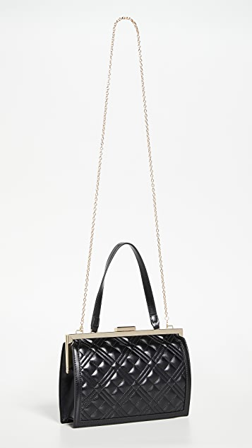 Moschino Quilted Frame Bag