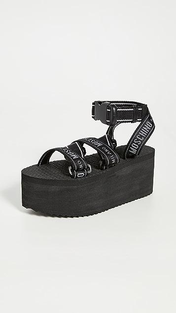 Moschino 厚底凉鞋