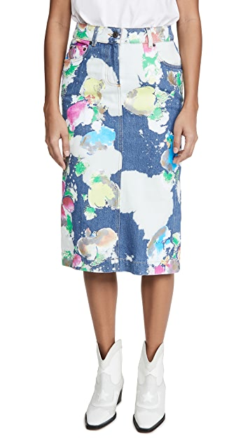 Moschino 彩绘铅笔裙