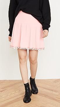 Pleated Miniskirt
