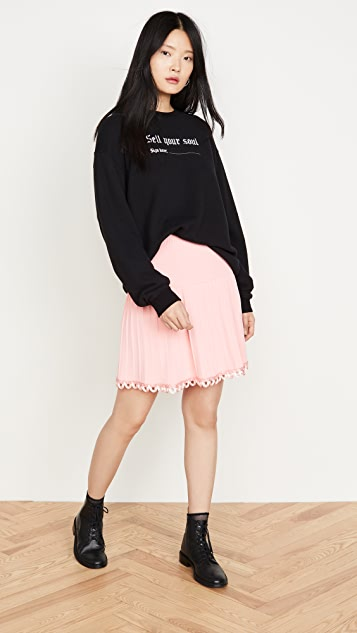 Moschino Pleated Miniskirt