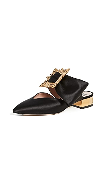 Moschino Pointed-Toe Broach Mules