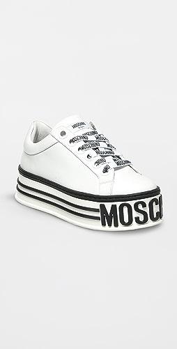 Moschino - 厚底徽标运动鞋