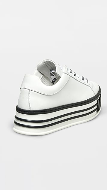 Moschino 厚底徽标运动鞋