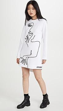 Long Sleeve Artwork Dress