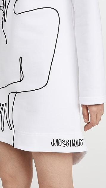 Moschino 插图长袖连衣裙