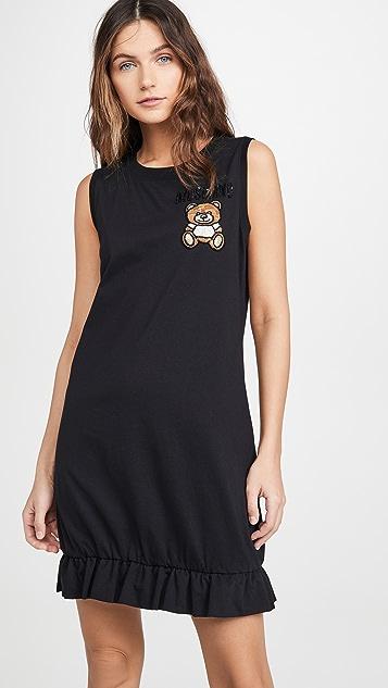 Moschino Платье с изображением плюшевого медведя