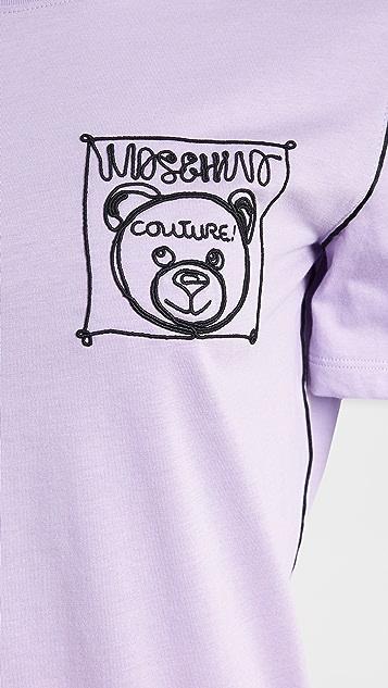 Moschino 手绘小熊 T 恤