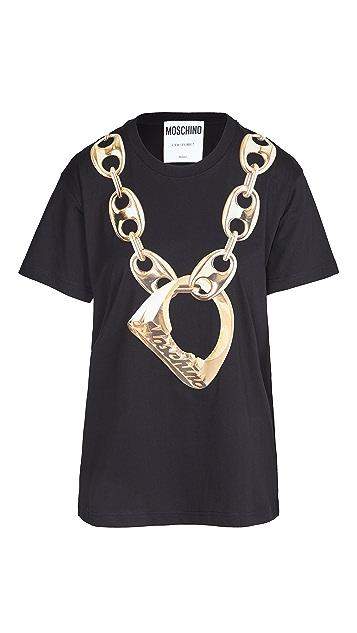 Moschino Ring Bling T 恤