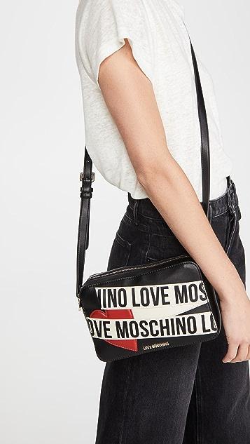 Moschino Love Moschino 徽标相机包