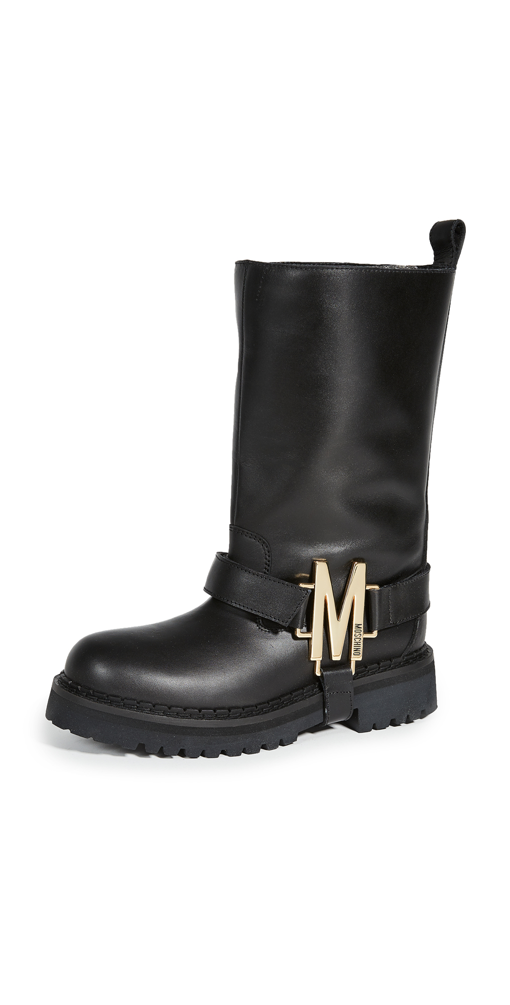 Moschino M Logo Moto Boots