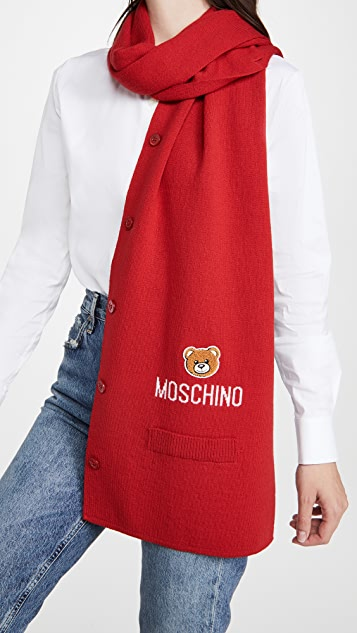 Moschino Scarf Vest With Buttons And Pockets