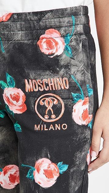 Moschino 法式毛圈运动裤