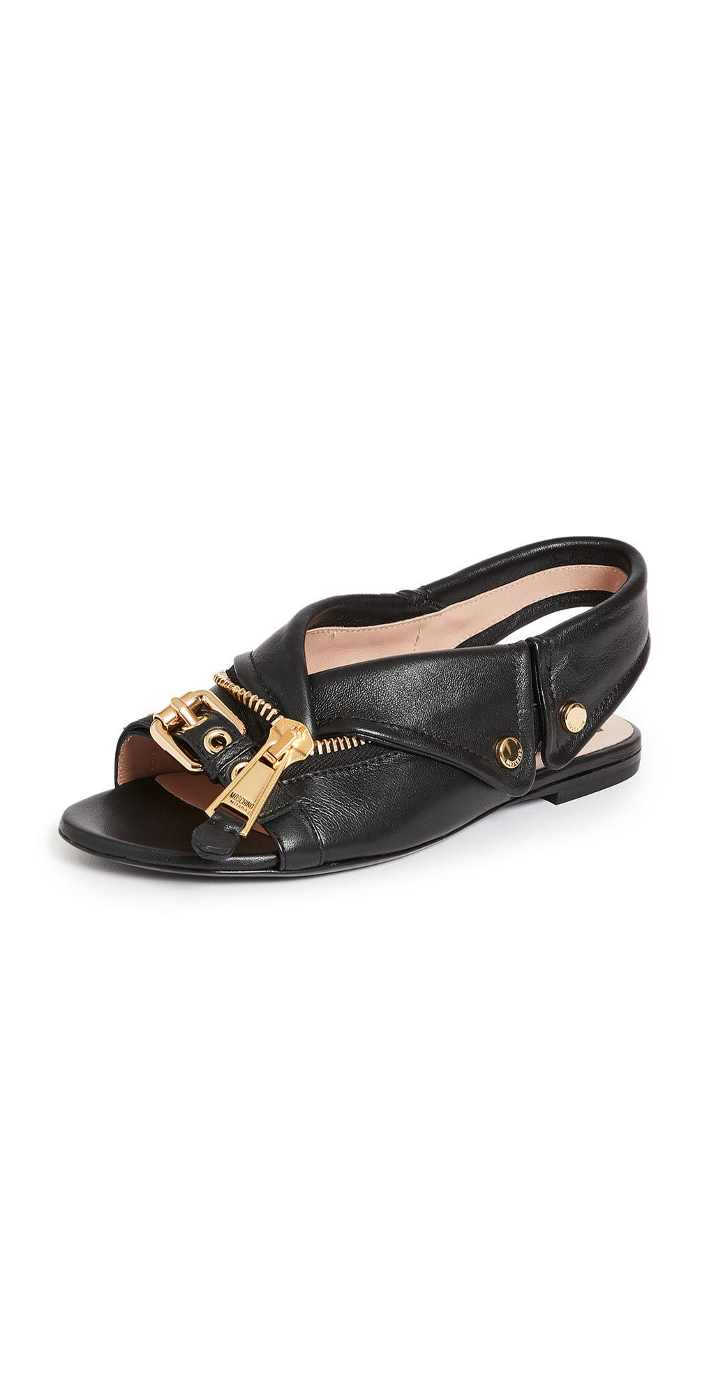 Moschino Slingback Flat Sandals