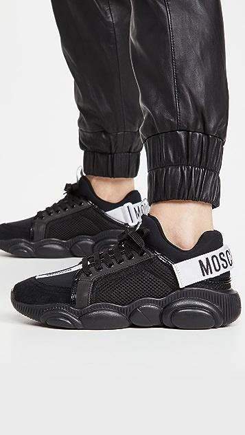 Moschino 徽标运动鞋