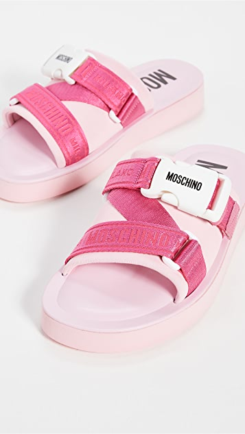 Moschino Ribbon Slides