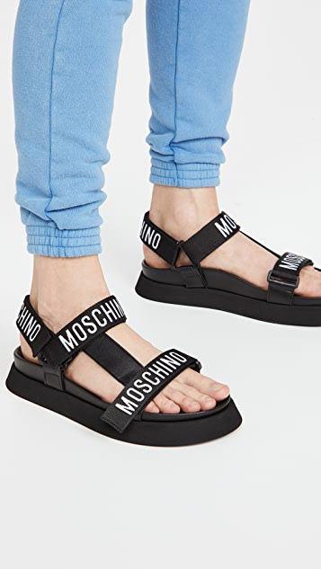 Moschino Logo Ribbon Sandals