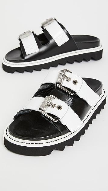 Moschino 双带凉拖鞋