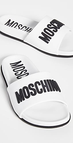 Moschino - Leather Pool Slides