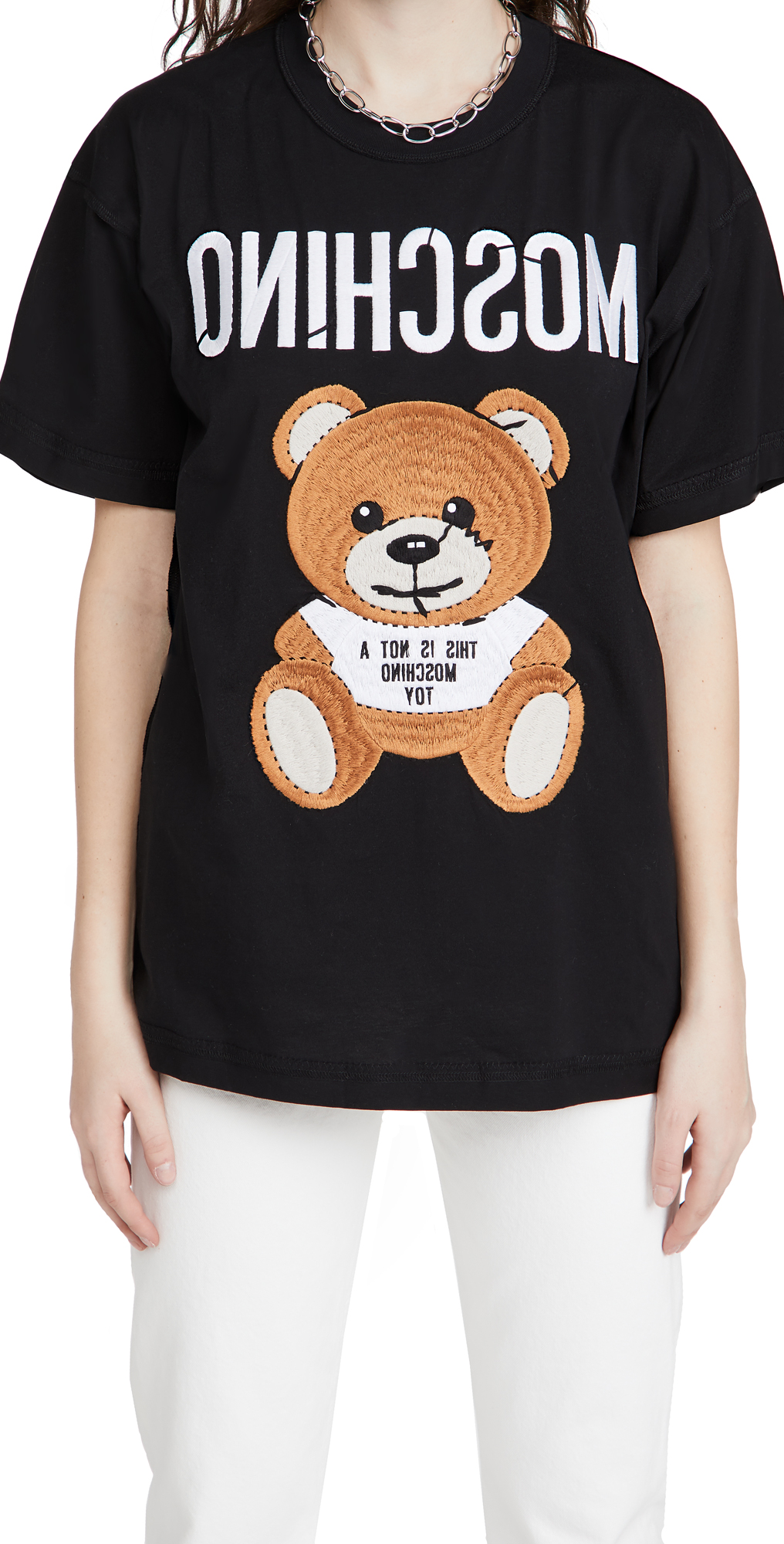 Moschino EMBROIDERED BEAR T-SHIRT