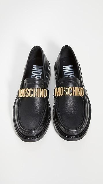 Moschino Logo Loafers