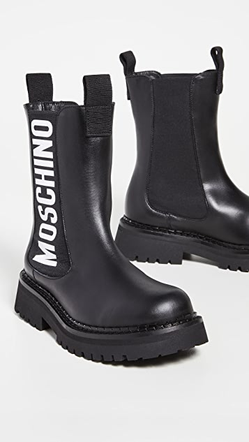 Moschino Logo Boots