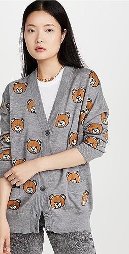 Moschino - 小熊系扣衫毛衣