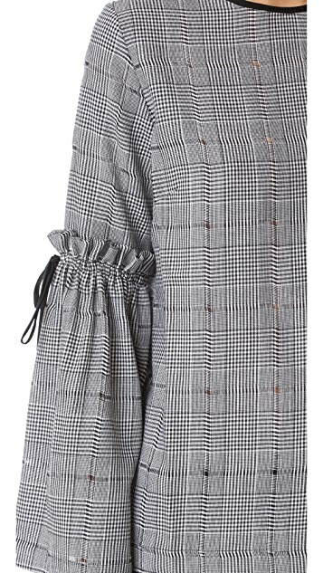 Mother of Pearl Alicia Houndstooth Blouse