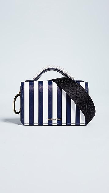 Mother of Pearl Jude Stud Shoulder Bag - Navy/White