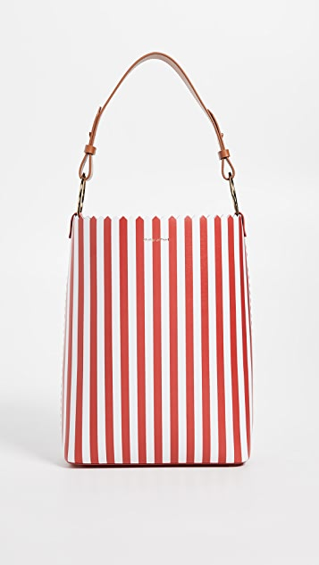 Mother of Pearl Ora Bucket Bag - Red/White