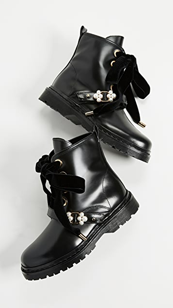 Mother of Pearl Enzo Combat Boots