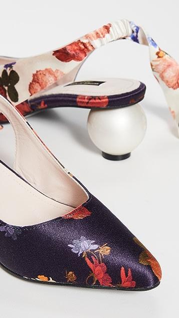 Mother of Pearl Туфли на каблуках с ремешком на пятке с бантом