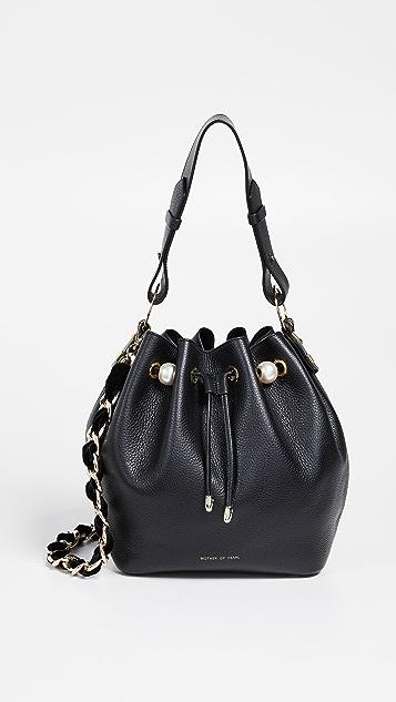 Mother of Pearl Bernie Medium Bucket Bag