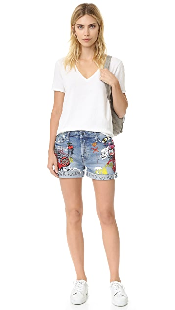 MOTHER The Vagabond Cuffed Shorts