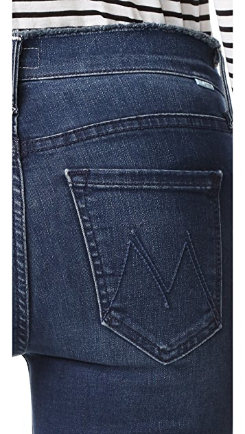 MOTHER Double Fray Charmer Crop Jeans