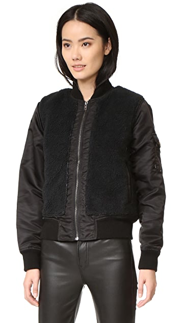MOTHER Aviator Sherpa Jacket