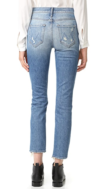 MOTHER The Flirt Fray Rigid Jeans