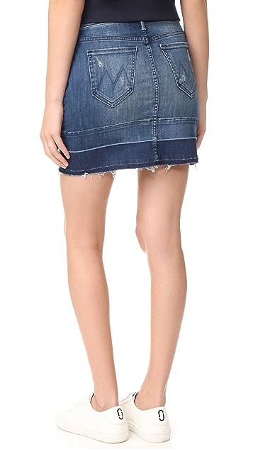 MOTHER Undone Hem Mini Skirt