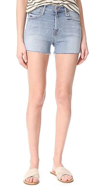 MOTHER HW Rascal Fray Shorts